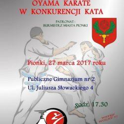 VI Otwarte Mistrzostwa Pionek Oyama Karate w konkurencji Kata