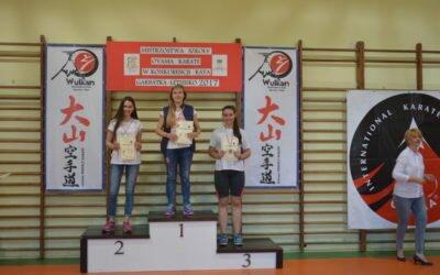 Mistrzostwa Szkoły Oyama Karate w konkurencji Kata, Garbatka- Letnisko 18 maja 2017 roku