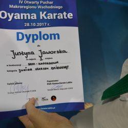 IV Otwarty Puchar Oyama Karate Makroregionu Wschodniego w Kumite, Lublin 28 października 2017 roku