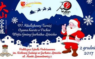 VI Mikołajkowy Turniej Oyama Karate o Puchar Wójta Gminy Garbatka- Letnisko