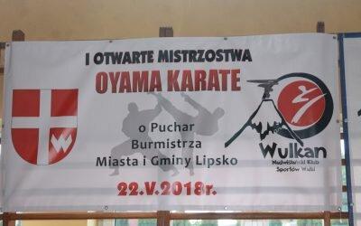 I Otwarte Mistrzostwa Oyama Karate o Puchar Burmistrza Miasta i Gminy Lipsko 22 maja 2018 r
