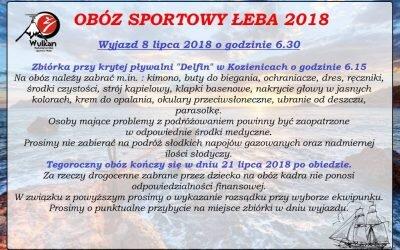 Obóz sportowy karate Łeba 2018