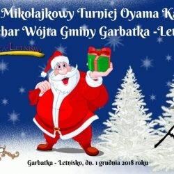 VII Mikołajkowy Turniej Oyama Karate o Puchar Wójta Gminy Garbatka- Letnisko, 1 grudnia 2018 r