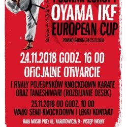 Puchar Europy Oyama International Karate Federation, Radom 24 listopada 2018 r