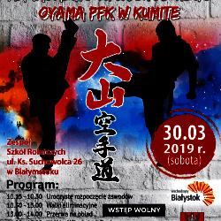 Otwarte Mistrzostwa Makroregionu Wschodniego Oyama PFK w Kumite. Białystok, 30 marca 2019 r.